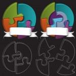 3D puzzle symbols — Stock Vector #35040527