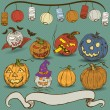 Pumpkin collection — Imagen vectorial