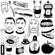Dental care set — Stock Vector