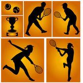 Tennisspieler — Stockvektor