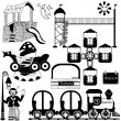 Kids amusement park set — Stock Vector #40204377