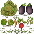 Hand drawn vegetable set 2 — Vettoriale Stock