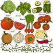 Hand drawn vegetable set 3 — Stock Vector