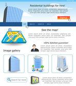 Website template 18 — Stock Vector