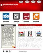 Homepagevorlage 50 — Stockvektor