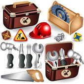 Toolbox set — Stock Vector