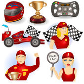 Racing car set — Stock Vector