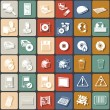 Flat icons 2 — Stock Vector
