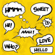A collection of comic style speech bubbles — Stock Vector