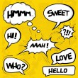 Stock Vector: Collection of comic style speech bubbles