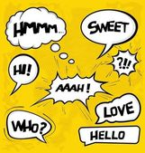 A collection of comic style speech bubbles — Stok Vektör
