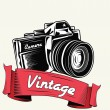 Stock Vector: Retro camerwith vignette