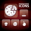 Stock Vector: Set of restaurant icons