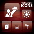 Set of restaurant icons, No 3 - Stock Vector