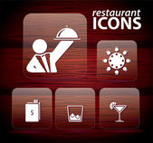 Set of restaurant icons, No 3 — Stock Vector