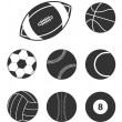 Sports balls icons icons — Stock Vector