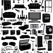 Stock Vector: Miscellaneous household: furniture and tools