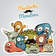 Mustache Monsters — Image vectorielle