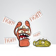 Royalty-Free Stock Vector Image: Funny characters fighting
