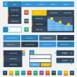 Vector de stock : Flat user interface design kit