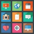 Stock Vector: Flat Icons for Web and Mobile Applications
