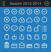 Modern Thin Icons Set - 30 icons — Vector de stock