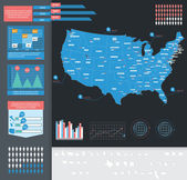 Infographic vector illustration with Map of USA — Stock Vector