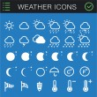 Stock Vector: Weather Icons Set - 30 icons