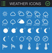 Weather Icons Set - 30 icons — Stock Vector
