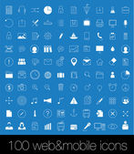 100 Icons For Web and Mobile , season 2014 — Stock Vector