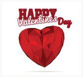 Valentines diamond heart — Stock Vector