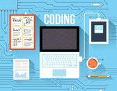 Coding concept — Stock Vector