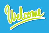 Welcome lettering design — Stock Vector