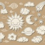 Cute sky doodle — Stock Vector