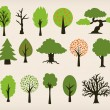 Cartoon trees - Stock Vector