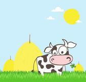 Cartoon cow — Cтоковый вектор