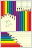 Colored pencil frames — Stock Vector