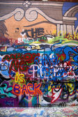 Graffitied Wall — Stock Photo