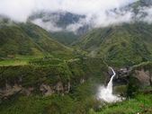 Waterfall near Baños, Ecuador — Stock Photo