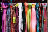 Scarves for Sale in Madrid — Stock Photo