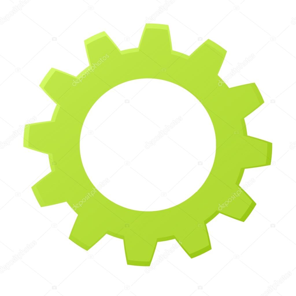 Rendered gears isolated against a white background — Stock Photo #12651965