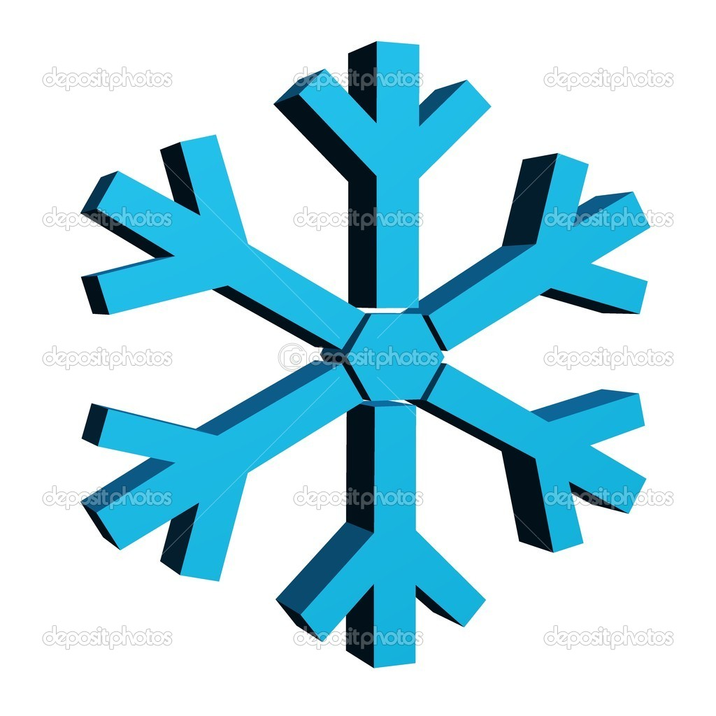 A3d snow flakes isolated against a white background — Stock Photo #13544295