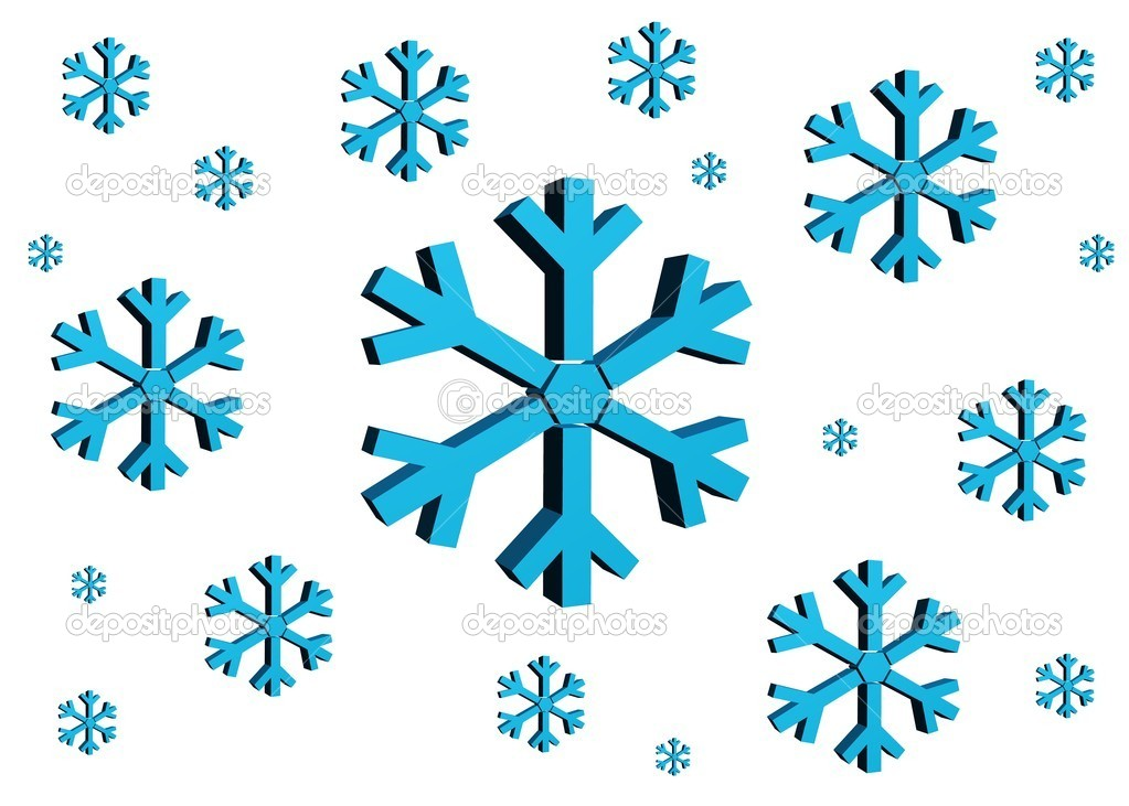 A3d snow flakes isolated against a white background — Stock Photo #13544296
