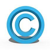 Simbolo di copyright — Foto Stock