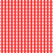 Checkered Tablecloth — 图库照片