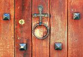 Doorknocker and keyhole — Stock Photo
