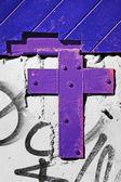 Purple cross — Stock Photo