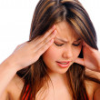 Headache pain migraine woman — Stock Photo