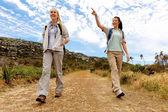 Hiking fun lifestyle — Stock Photo