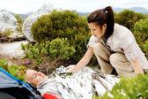 Hiking accident injury — Stock Photo